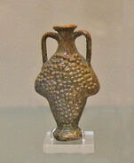 Roman lead-glazed flask