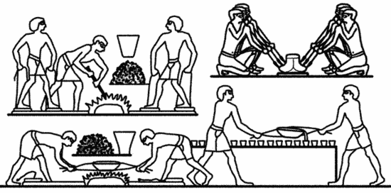 Egyptian metal workers