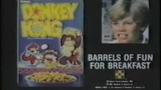 Donkey Kong Cereal 1983 Commercial