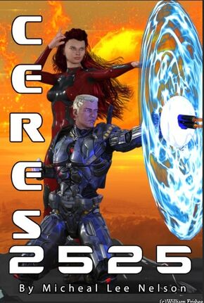 Front Cover 4 Ceres 2525 eBook orange planet sunrise