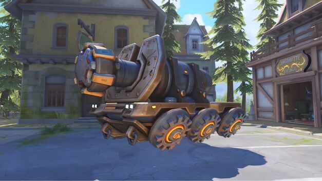 The payload in the Overwatch Eichenwalde map