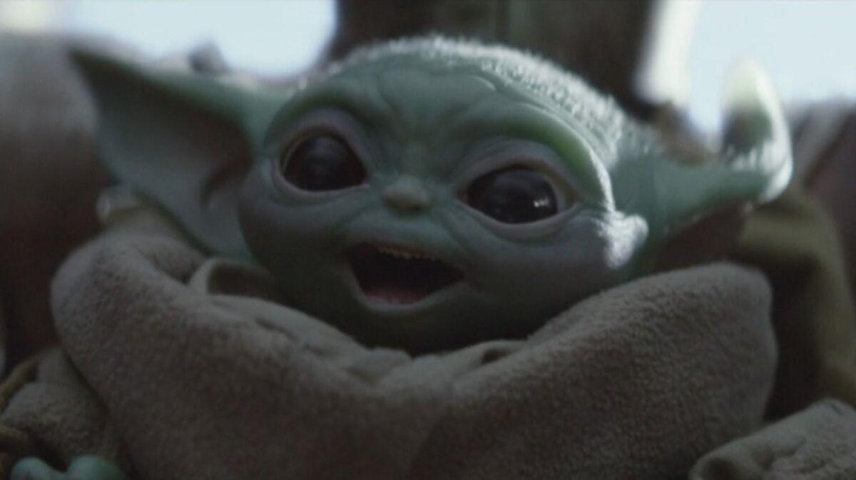 Baby Yoda exercising
