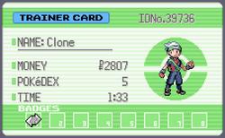 Clone's trainer card