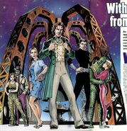 The Eighth Doctor and friends