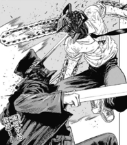 Denji engaging the Katana Man