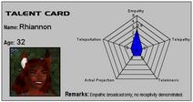 Talent Card Rhiannon