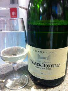 Blanc de blanc grand Cru champagne