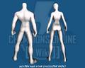 Golden Age Star (Shoulder Pads) - Back