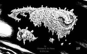 Elder Worm Starships (Champions Beyond)