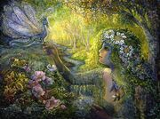Dryad and dragonfly