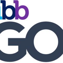 The first logo as TiBB GO! from 12 August 2017 until 19 January 2018