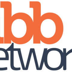 The third logo of TiBB Networks from 5 April 2017 until 19 January 2018.