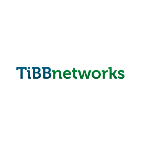 The first logo of TiBB Networks from 27 August 2015 to 28 February 2016