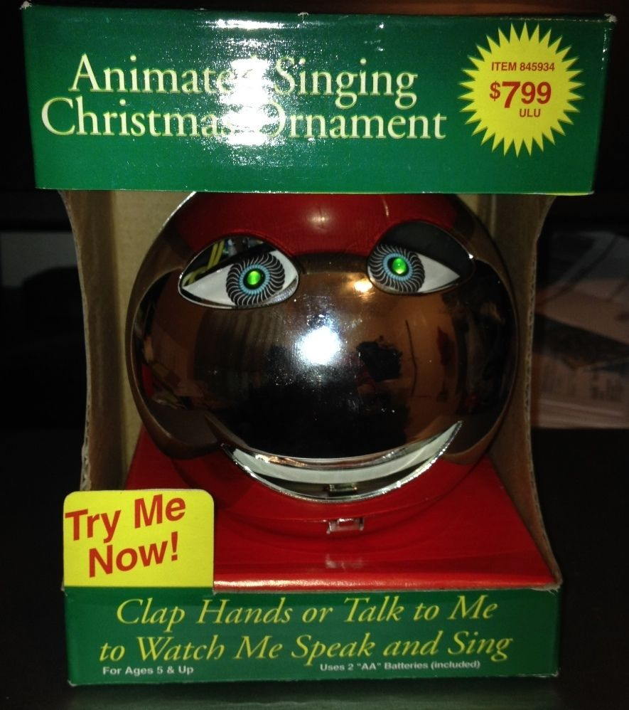 1986 animated singing christmas ornament - Animated Christmas Ornaments