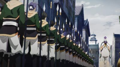 Kouran's Troops in Military Formation (Anime)