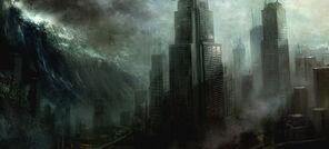 City tidal wave
