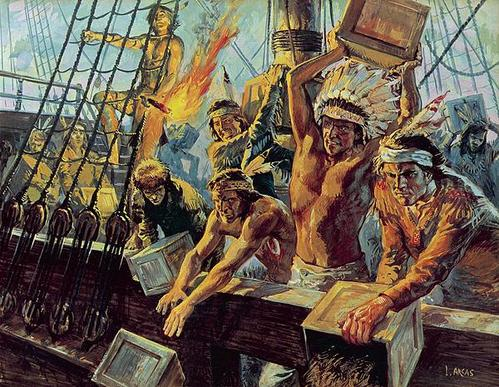 Image result for the boston tea party
