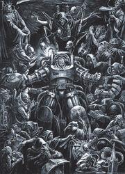 Brethorius donning Terminator Armour