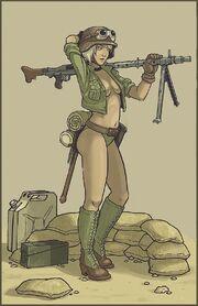 Mormark military pinup