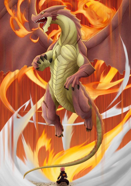 Хвост феи картинки дракона игнила