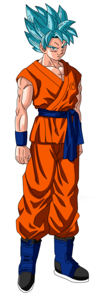 Goku super saiyan god super saiyan render by kaishine45-d8qd9gf