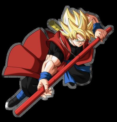 Dragon Ball Heroes SSJ Xeno Goku (Render)