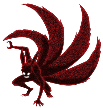 Mega-de-render-naruto-naruto-in-4-tail-fox-mode-illustration-png-clipart