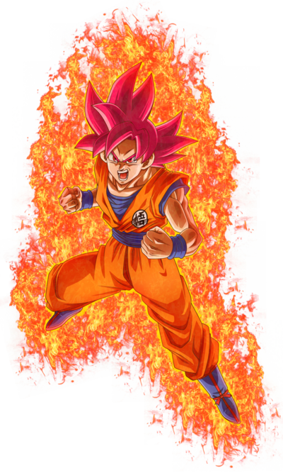 Super Saiyan God Goku Render