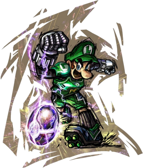 Luigi Strikers Charged Artwork