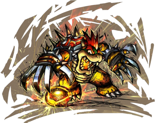 Bowser Strikers Charged Artwork