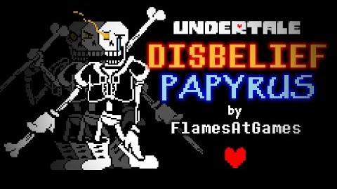 DISBELIEF (Papyrus's Genocide Route) Undertale-1