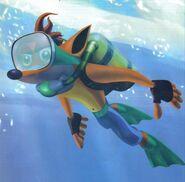 Crash-nageur