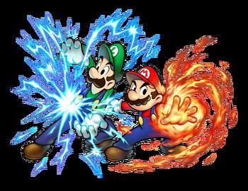 Mario (Fire) & Luigi (Lightning)