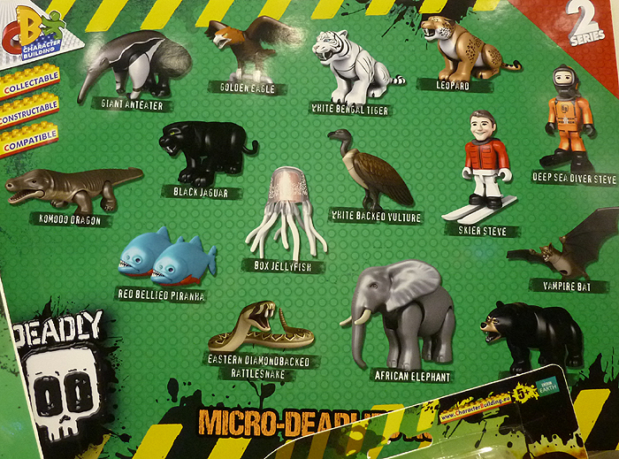 """Micro Deadly 2/"""" Figurines 5-Pack Action Figure Set 3 #NEW DEADLY 60"""