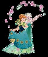 Anna and elsa frozen fever 2d render by fenixfairy-d8yjp33