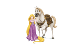 Rapunzel with Maximus
