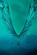 Godzilla King of the Monsters - Mothra poster - Clear keyart