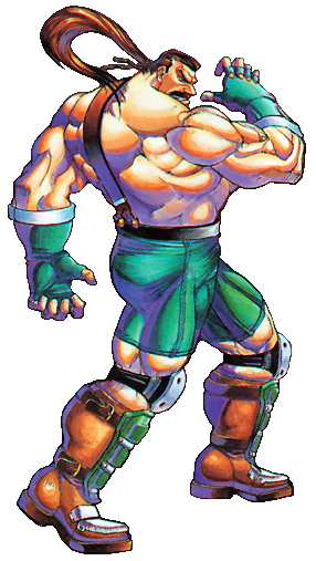 Final Fight - Mike Hagger as he appears in Final Fight 3