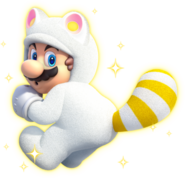 625px-White Tanooki Mario Artwork - Super Mario 3D World