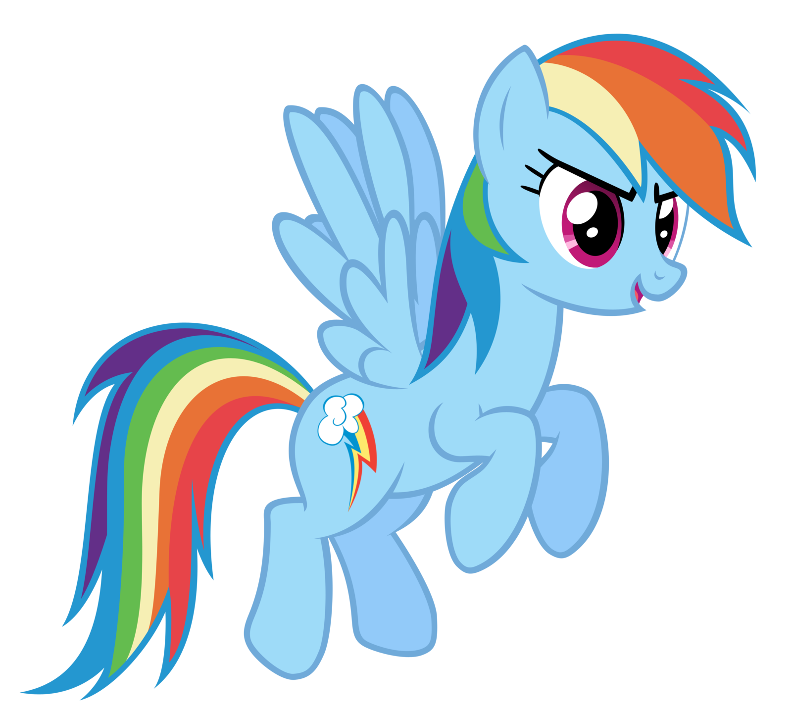 Rainbow Dash RD Vector