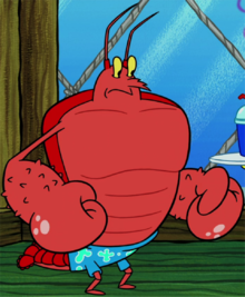 Larry the Lobster stock image standing