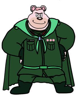 Dog a tat the rat a tat Najor Mataliya Narly Niparat super hero commander soldier army bear man by billiman