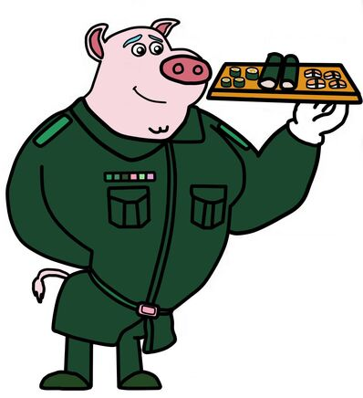 Dog A Tat the rat a tat Donnie Danner army soldier pig