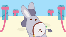Donkey Looking At Piu Piu Gets Down