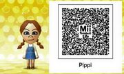 Mii Tomodachi Life Pippi Longstocking QR