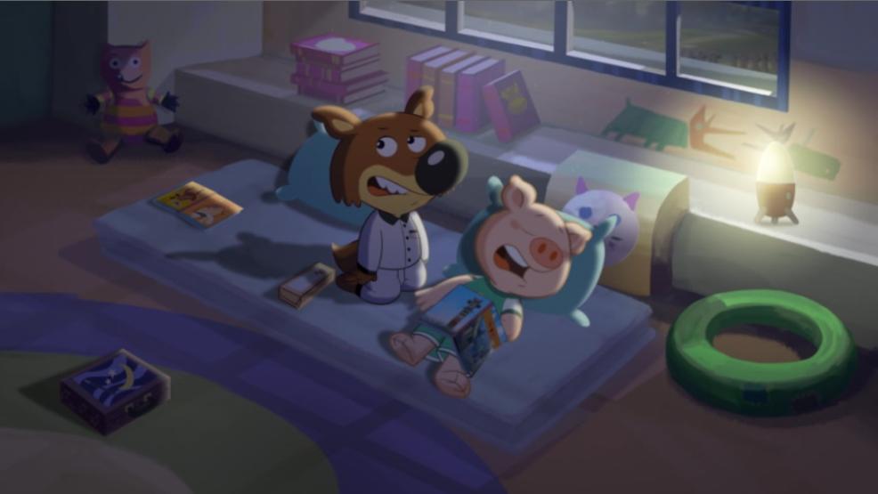 Anderson (Mini Wolf-Mini Loup) In Bed Scene 04