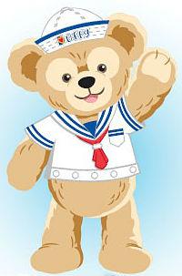 Duffy the disney bear animated