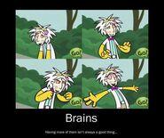 Brains demotivational poster by voiceactresskurutta-d4cz42z