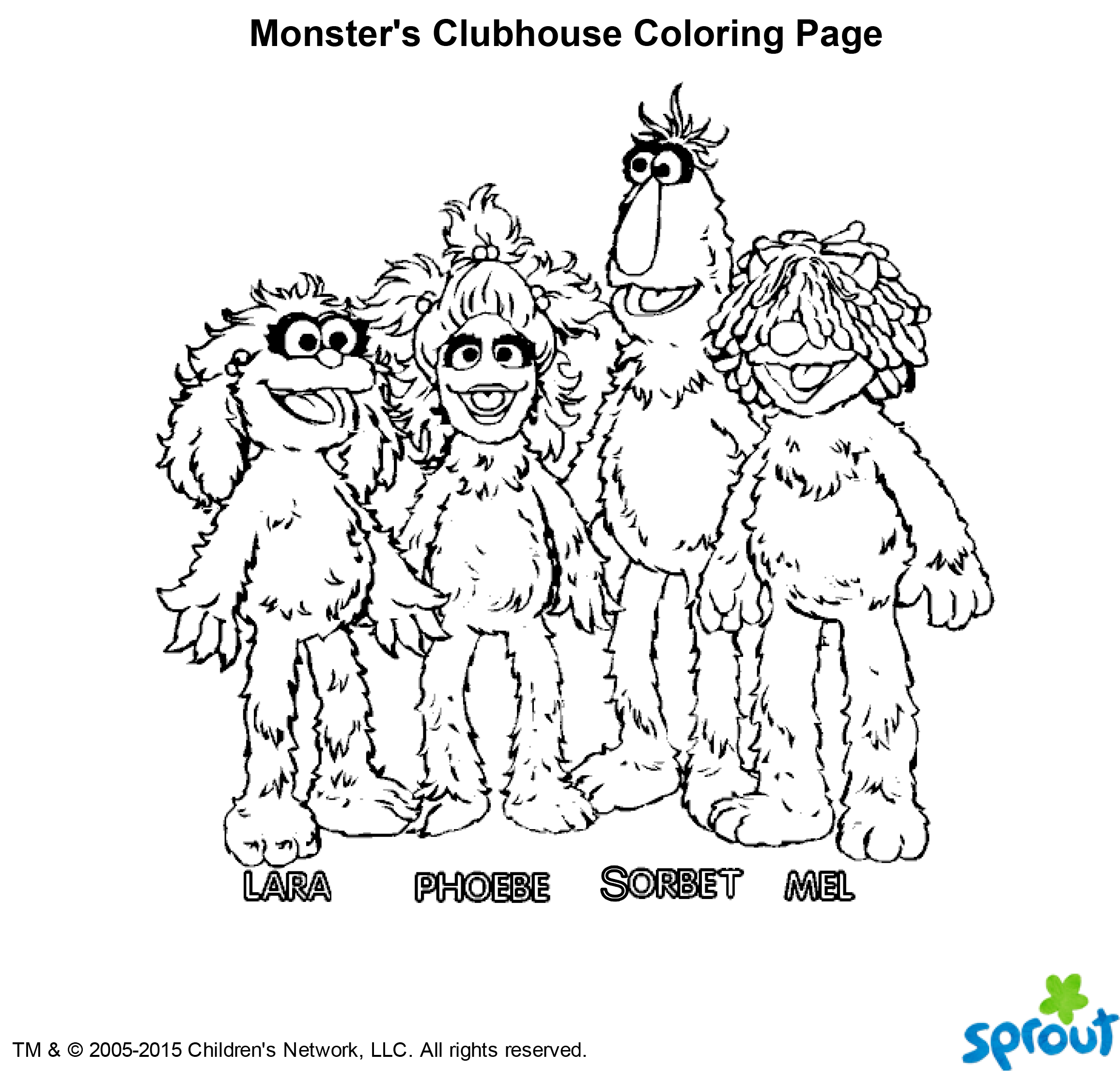 Monsters Clubhouse Coloring Page