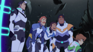 Shiro, Pidge, Lance, Coran and Hunk (White Lion)